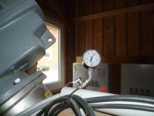 Immer einen Blick auf den Druckmanometer vom Silo werfen